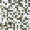 Style rustico Ice Crackle Ceramic & Glass Mosaic con Aluminum Alloy