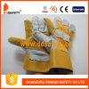 Усиленная кожаный ладонь, тумак перчаток задней части хлопка прорезиновый (DLC330)