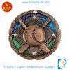 Изготовленный на заказ бронзовая медаль бейсбола 3D для подарка сувенира