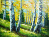 100%Handmade Spring Green Forest Landscape Paintings (LH-352000)