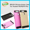 Caja protectora del teléfono de la armadura de Siicone del cepillo para Huawei P9/9plus/P8