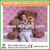 Glänzender hoher riesiger Teddybär des Brown-Plüsch-Bären-160cm