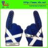 スコットランドの国旗が付いている1つの指の大きい泡手
