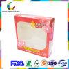 Caixa de empacotamento cosmética da impressão do papel revestido 4c do lustro do OEM 400g da fábrica para o champô com indicador do acetato