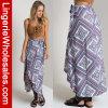 Falda irregular del dobladillo de la impresión bohemia de las mujeres