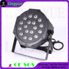 18PCS RGB 3W Plano pequeno DJ Stage Lights PAR 64