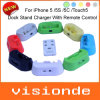 Remote Control New Desktop data Sync Cradle Dock score Charger for iPhone 5/5s/5c/Touch 5