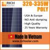 certificato solare di TUV dei moduli del silicone policristallino 320W fatto nel Vietnam