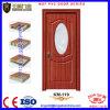 Modèle en verre en bois de porte pour la porte de salle de bains