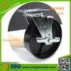 産業鋳鉄の足車の車輪、頑丈な側面の台紙の足車