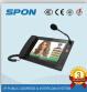 Spon Nas8531V IPのビデオページングのマイクロフォンコンソール