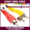 Дешевый кабель агрегата черноты 3RCA для Индий/Дубай/Мексика 1.5m/1.8m/2m