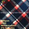 スパンデックスポリエステルミルクの織物(GLLML361)のためのファイバーによって編まれるPeachedファブリック