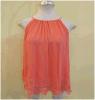 여자는 주문을 받아서 만들어진 여름이 우연한 상단을 입어 간단한 기본적인 투명한 시퐁 블라우스 t-셔츠 숙녀에 의하여 수를 놓는 형식을 주문을 받아서 만들었다