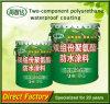 Capa impermeable del poliuretano del componente de la protección del medio ambiente dos