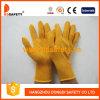 10 guantes amarillos de la seguridad del guante del Knit de la secuencia del algodón del calibrador - Dck610