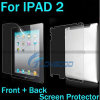 Neue Ankunft voller Protetive rückseitiger Deckel Front&Back transparenter Bildschirm-Schoner für iPad2