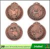 Nastro personalizzato medaglia antica personalizzato del metallo di sport del rame dell'argento dell'oro