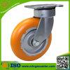 Orange PU auf Aluminiumkern-Rad-Fußrolle
