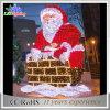 Luzes de Natal vivas do feriado feliz do vendedor superior 3D Papai Noel