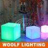 屋内誕生日の結婚披露宴の装飾LEDの軽い立方体