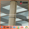 Materiale composito di alluminio Acm di sembrare della pietra di Perlato Svevo delle colonne del portello