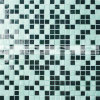 mosaico de vidro de derretimento da piscina da mistura verde de 15X15mm (BGC018)