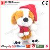 Hond van het Stuk speelgoed van de Pluche van de Dag van Kerstmis de Zachte Gevulde