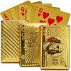 Póquer da folha de ouro com caixa do presente