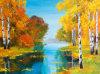 Peinture à l'huile peinte à la main de modèle décoratif populaire