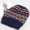 女性は帽子、冬の帽子の帽子、アクリルのジャカード織り方によってを編まれた帽子編んだ