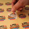 Таможня OEM/ODM высокого качества печатание Cmyk приняла после того как она Die-Cut вокруг стикеров