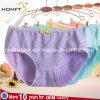 El algodón caliente de la venta de moda ventila la ropa interior Panty de las señoras de la ropa interior de las chicas jóvenes de la tela escocesa