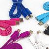 다채로운 편평한 Charger&Transfer 데이터 USB 케이블
