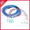 Blouson bleu blindé optique SC vers le jumper de fibre LC
