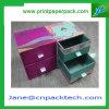 Tipo de empaquetado rectángulo de papel del cajón del rectángulo de almacenaje de la manera de encargo del rectángulo