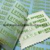 Escritura de la etiqueta de cuidado de la impresión del traspaso térmico de la hoja