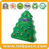 포장하는 크리스마스 주석, Xmas 선물 주석 상자를 위한 Tree-Shaped 주석
