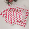 Red Party Impreso Chevron Vajilla Papel caramelo Bolsa
