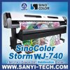 1.8m Dx7 Textile Printer Sinocolor Wj-740, 2880dpi