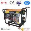 Générateur diesel de soudeuse de grand pouvoir avec la couleur orange (marque d'ETK)