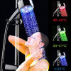 Temperature Controlled Color Changing LED Shower Light