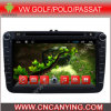 Reproductor de DVD del coche para el reproductor de DVD de Pure Android 4.4 Car con A9 CPU Capacitive Touch Screen GPS Bluetooth para VW Golf/Polo/Passat (AD-8151)