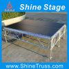 AluminiumAssemble Stage mit Guardrail