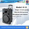 무선 마이크를 가진 12 인치 DJ 베이스 직업적인 Bluetooth 액티브한 스피커