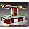 나무로 되는 High Glossy Jewelry Kiosk, Lock를 가진 Sale Free Design Jewelry Kiosk를 위한 Mall Jewelry Kiosk