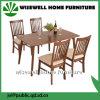 Conjunto de madera del vector de cena de los muebles del comedor del diseño moderno
