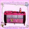 2014 ярд дешевой & кроватка & игра перемещения принесенные конструкцией Playpen младенца кровати Playpen младенца кровати младенца En-71 складывая (BP-007)