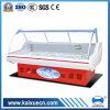 Refrigerador de cristal curvado del anuncio publicitario del escaparate de la carne fresca