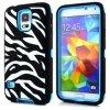 De alta Impack Zebra Diseño caso híbrido para Samsung Galaxy i9600 S5